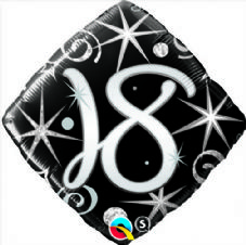 18th Birthday Sparkles & Swirls Foil Balloon